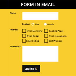 INTEGRATED FORMS IN EMAIL