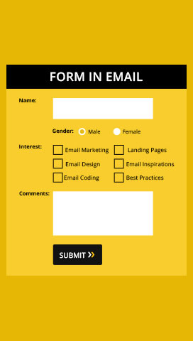 forms in email, embed form in email