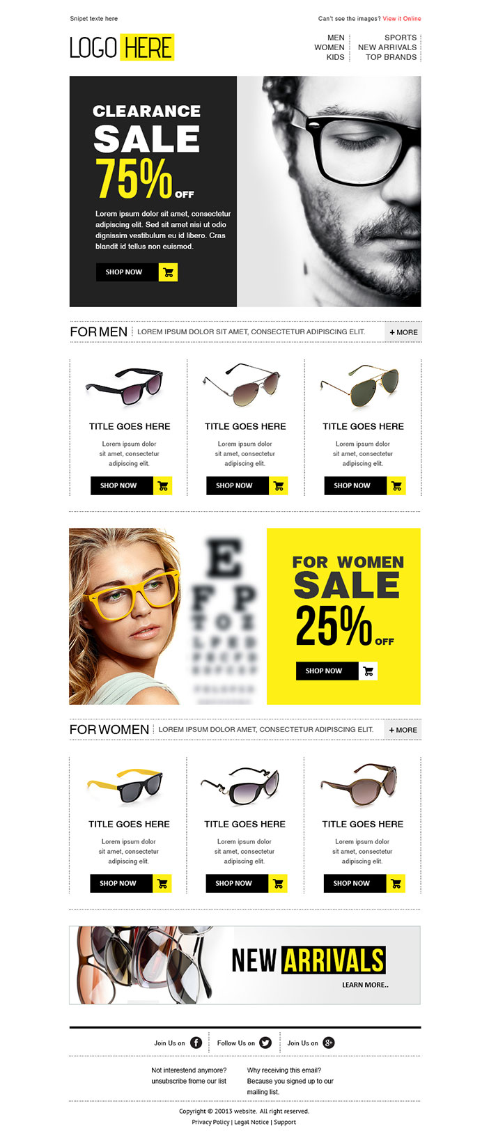 Custom Email Newsletter Template Design HTML Coding Service - Custom newsletter template