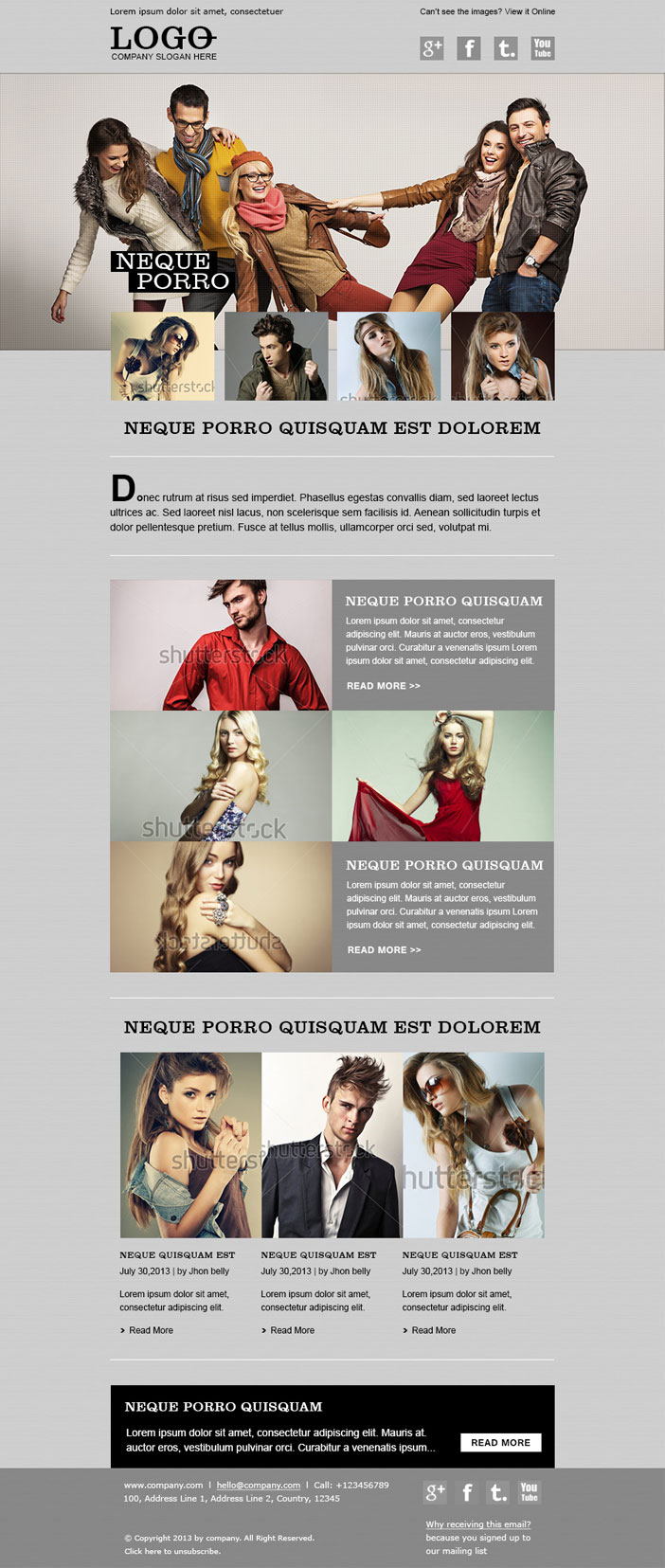 Custom Email Newsletter Template Design & HTML Coding Service
