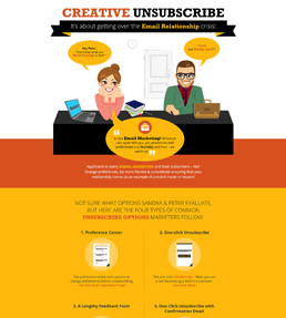 Creative Unsubscribe Best Practices Infographic