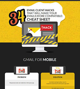 34 Email client hacks Infographic for better email compatibility