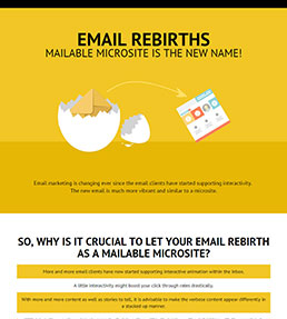 Interactive email advancements