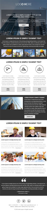 PSD to Responsive HTML Landing Page