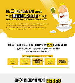 Re-engagement emails - The divine jackfruit - infographic