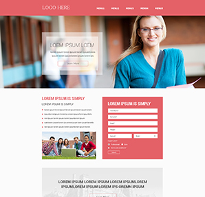 Custom Landing Page Template Design HTML Coding Service - Sample landing page template